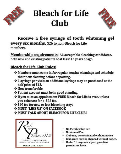 Bleach for Life Club Joliet Whitening